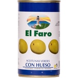 El Faro Grüne Oliven mit Kern 190g