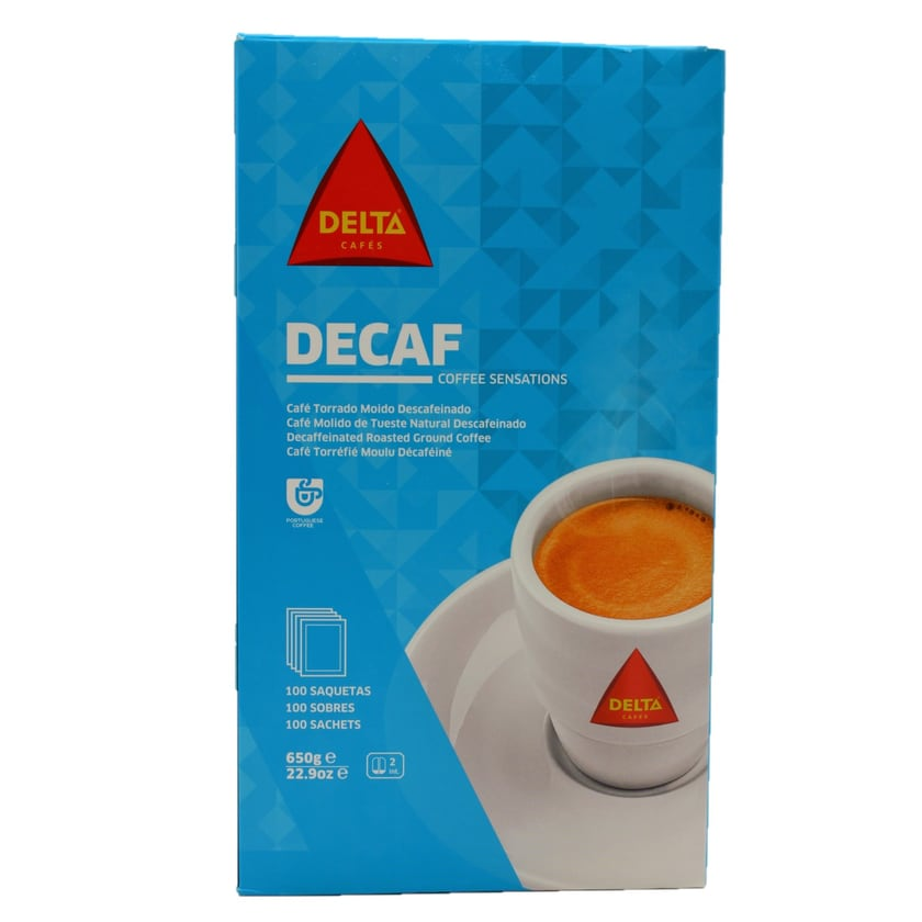 Delta Descafeinado Lights koffeinfreier Kaffee in Portionsbeuteln 100x6,5g