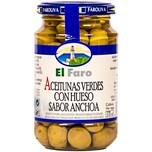 El Faro Manzanilla Oliven mit Kern und Sardellengeschmack 200g
