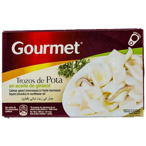 Gourmet Trozos de Pota Tintenfisch in Pflanzenöl 72g