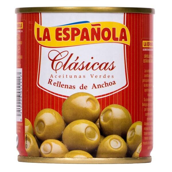 La Española Clasicas Grüne Oliven gefüllt mit Sardellen 85g