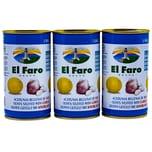 El Faro Oliven gefüllt mit Knoblauch 3 x 150g, 450g