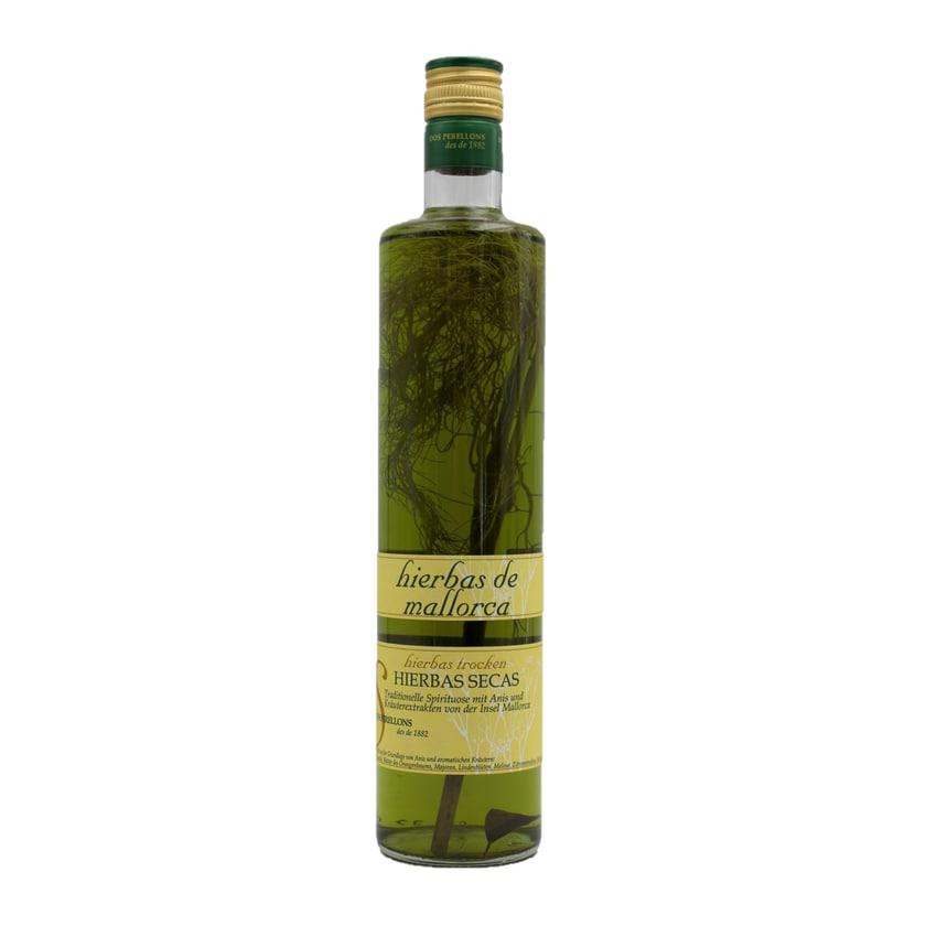 Dos Perellons Hierbas secas mit Zweig Kräuterlikör 700ml