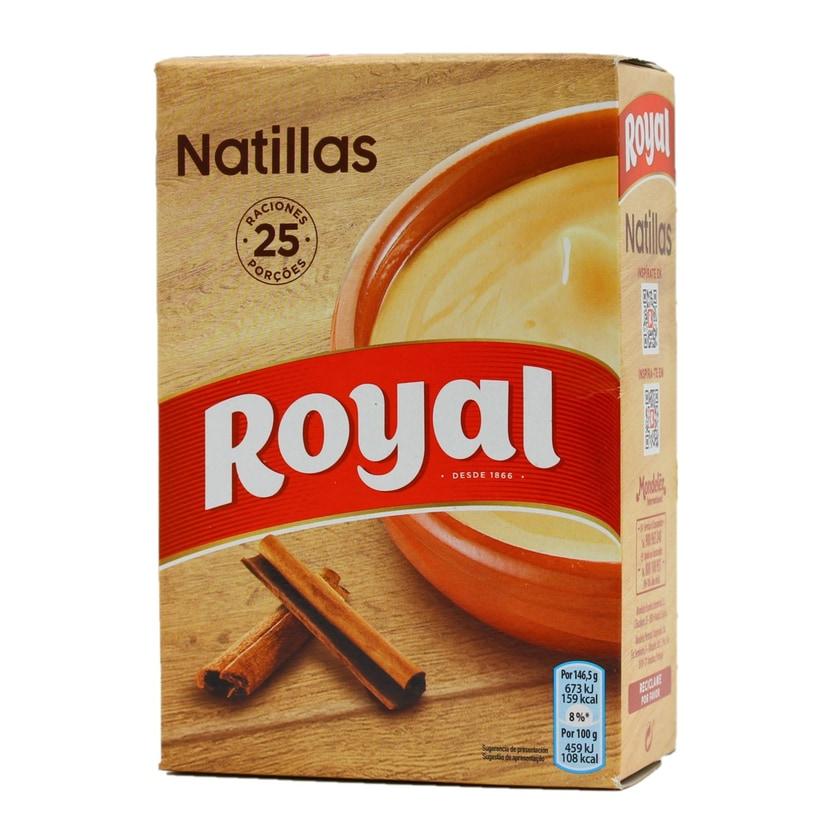 Royal Natillas Caseras Spanische Dessertcreme Pulver für Zubereitung Packung 5 x 20g