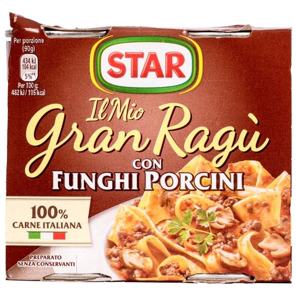Star Gran Ragu con Funghi Porcini Tomatensauce mit Fleisch und Steinpilzen 360g