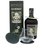 Botucal Ron Reserva Especial Exclusiva Rum Geschenkset mit Untersetzern und Glas 0,7l