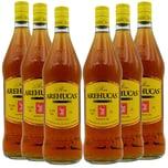 Arehucas Carta Oro Ron Dorado Rum 6 x 1l, 6l