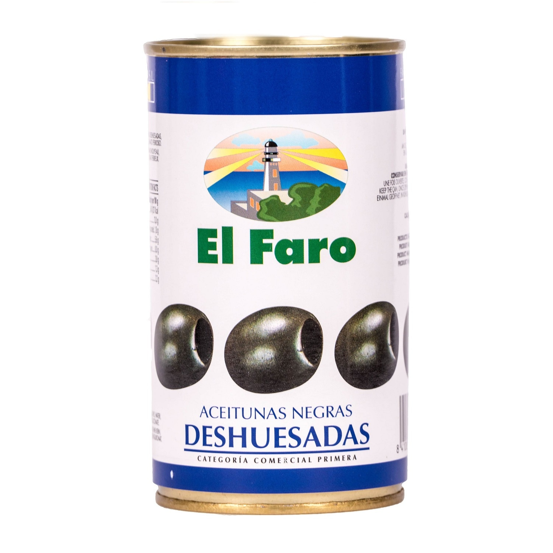 El Faro schwarze Oliven ohne Kern 150g
