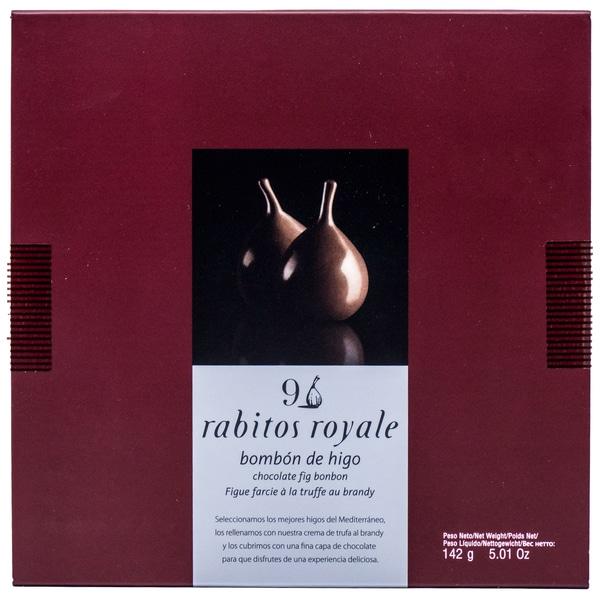 Rabitos Royale Bombón de Higo Chocolate Schokoladenfeigen mit Brandytrüffelfüllung 142g