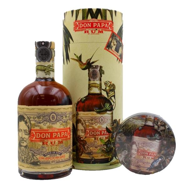 Don Papa Geschenkset Rum 0,7l inkl. T-Shirt in Geschenkdose