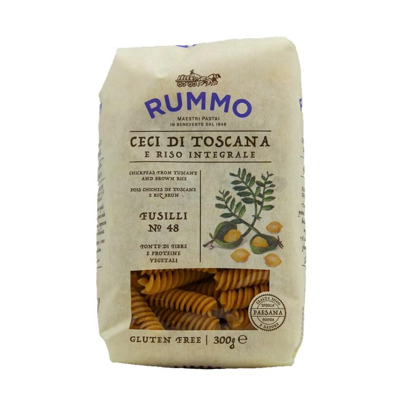 Rummo Fusilli No48 Cici di Toscana Lebensmittelzubereitung aus roten Linsen und Vollkornreis 300g