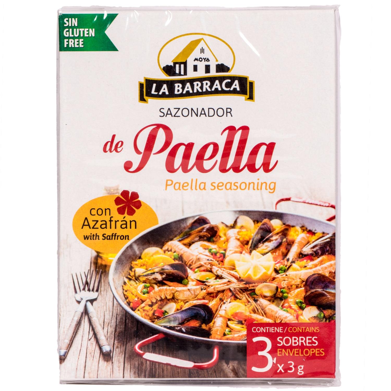 La Baccara Würzmittel für Paella mit Safran 9g, 3x3g