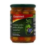 Aceitunas verdes partidas aliñadas gazpachas In Gemüse eingelegte grüne Oliven 250g