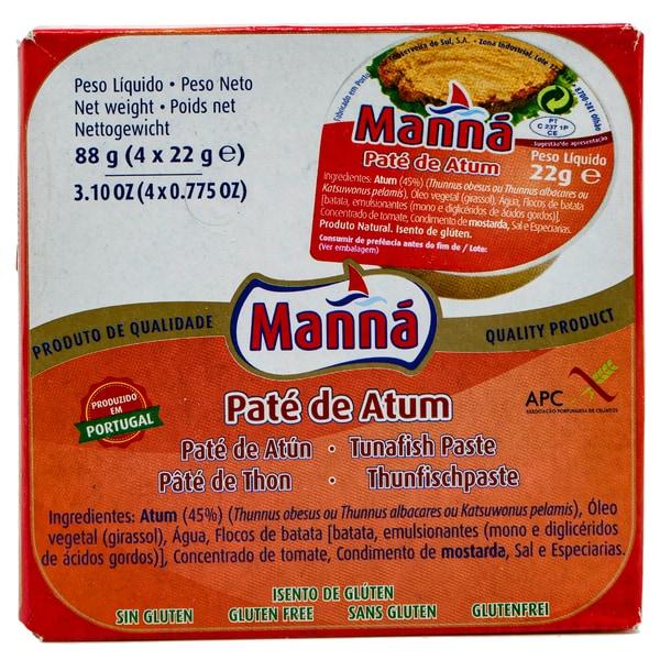 Manná Thunfischpaste Pate de Atum 4 x 22g, 88g