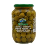 El Faro Grüne Oliven mit Kern Sardellen Geschmack 500g