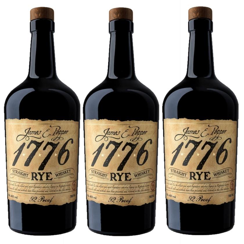 1776 Straight Rye Whiskey 3x0,7l