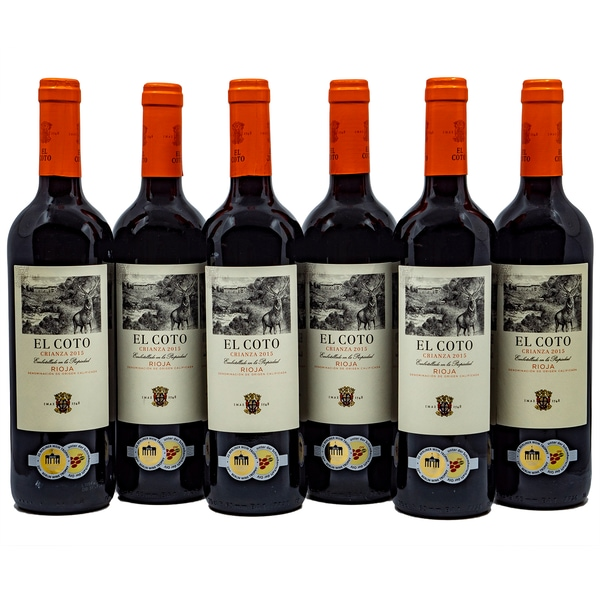 El Coto Crianza Rioja Rotwein 6 x 0,75l, 4,5l