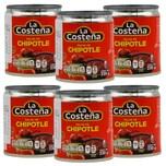 La Costena Salsa de Chipotle scharfe Chipotle Chili Würzsauce 6 x 220g, 1.320g