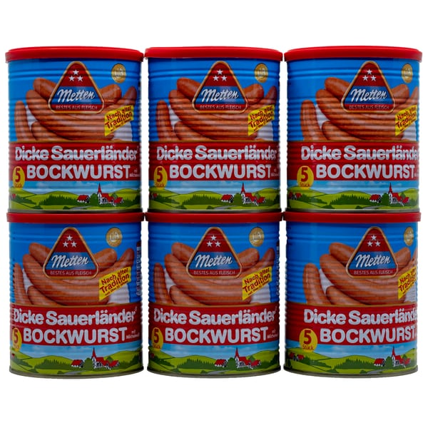 Metten Dicke Sauerländer Bockwurst 6x400g