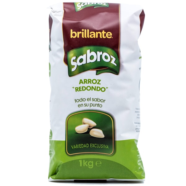 Brillante Arroz Sabroz Redondo Reis 1kg