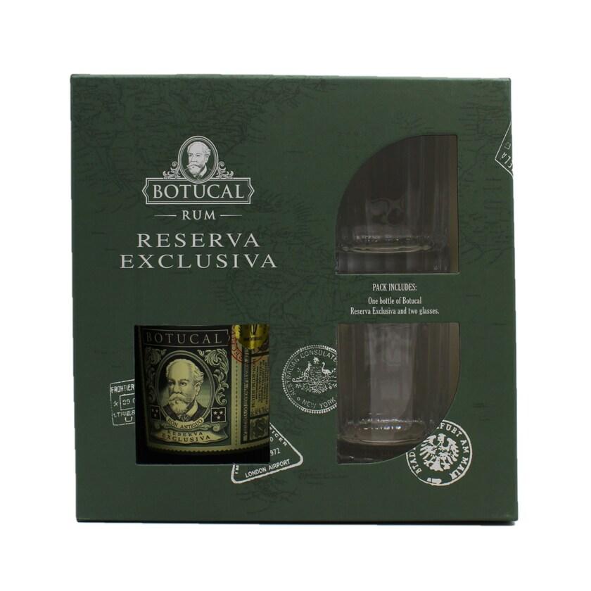 Ron Botucal Reserva Exclusiva 70cl Geschenkset + 2 Gläser