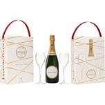 Laurent Perrier Champagner La Cuvee Brut 0,75 Liter mit 2 Gläsern