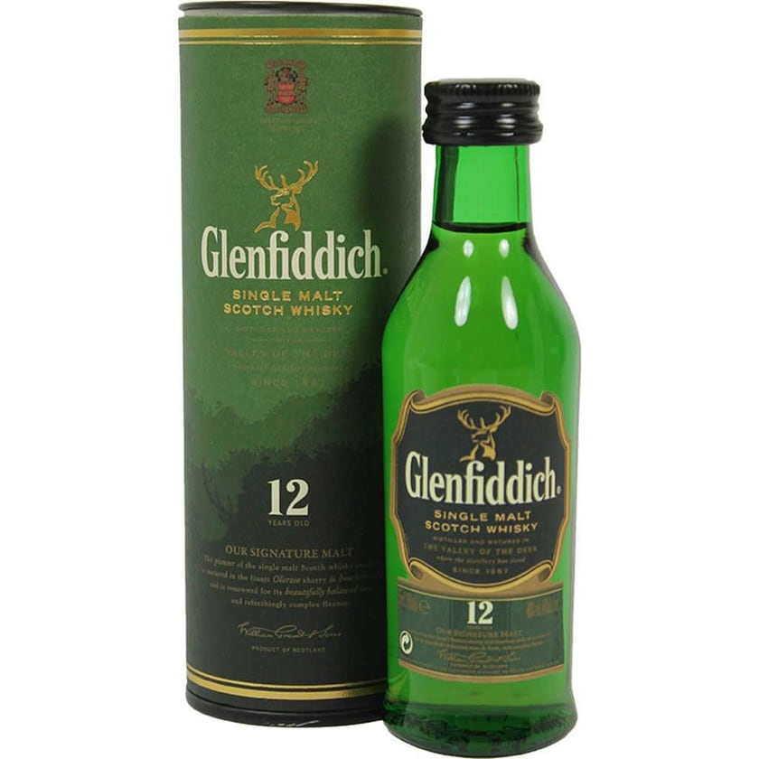 Glenfiddich Whisky 12 Jahre Mini 5cl