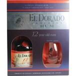 El Dorado Rum 12 Jahre 0,7l mit Gläsern