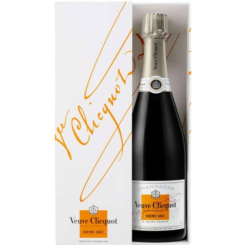 Veuve Clicquot Champagner Demi-Sec 0,75 l in Geschenkpackung