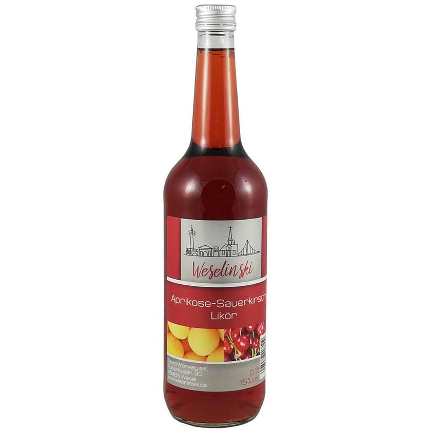 Aprikosen-Sauerkirsch Likör Weselinski 0,7 L