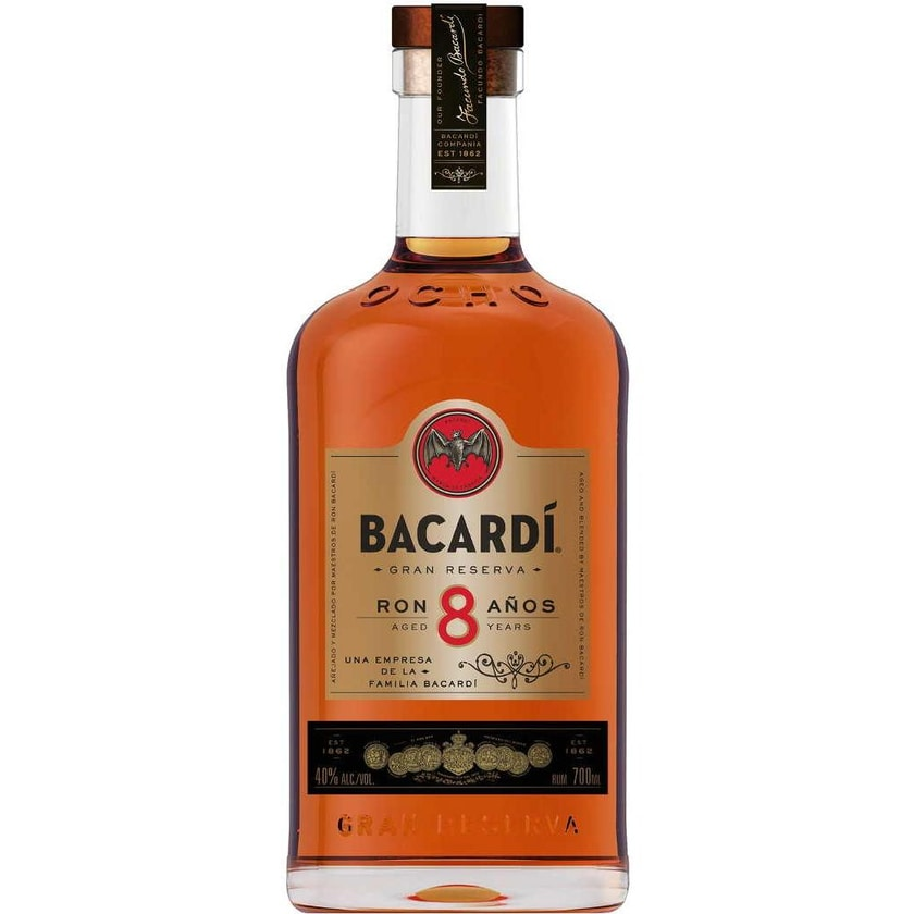 Bacardi Rum 8 Jahre 0,7 l