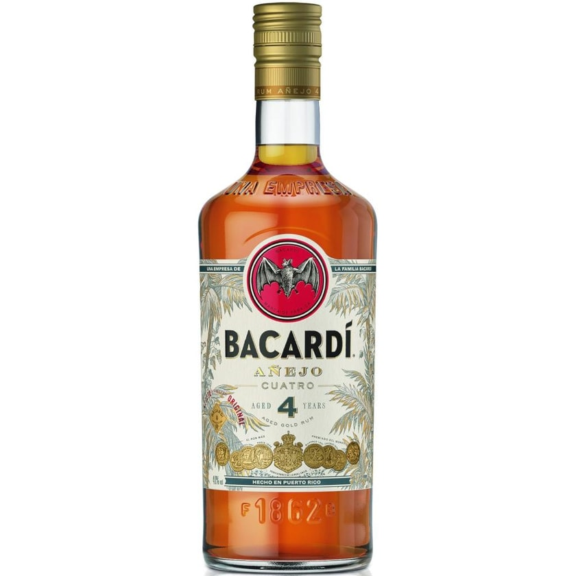 Bacardi Anejo Cuatro 4 Jahre 0,7l