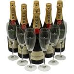 Moet & Chandon Brut Imperial Champagner Giga Gläser Set