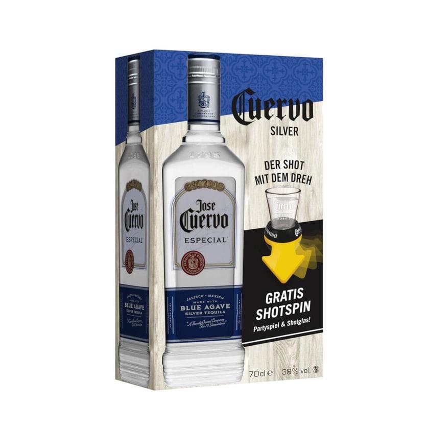 Jose Cuervo Especial Silver 0,7 L Tequila mit Shotspin