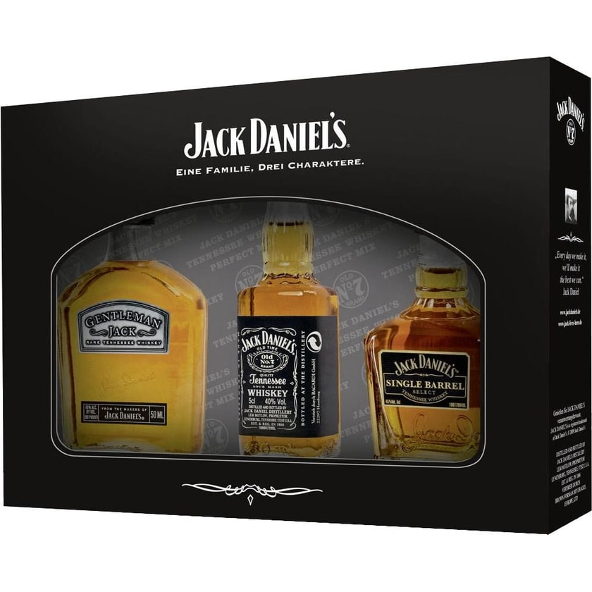 Jack Daniels Whiskey 3er Miniaturen Set