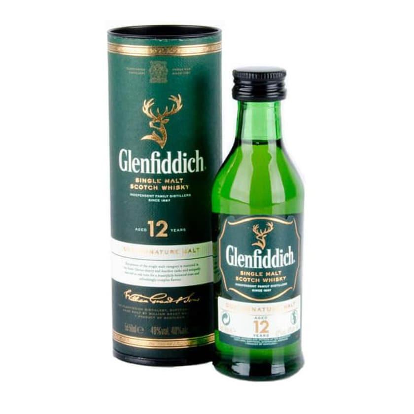 Glenfiddich 12 Years Miniatur 0,05 L