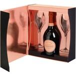 Laurent Perrier Champagner Rosé 0,75l mit zwei Gläsern