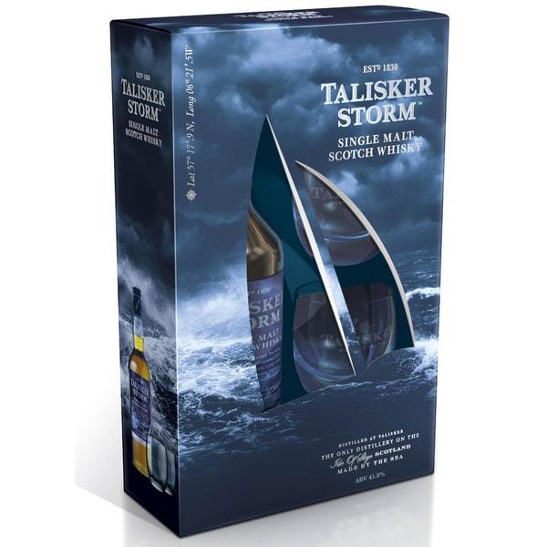 Talisker Storm Geschenkpackung mit 2 Gläsern 0,7 L