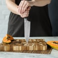 Springlane Kitchen Santokumesser-Set mit Akazienholz Schneidebrett Sakura 2-teilig 17cm
