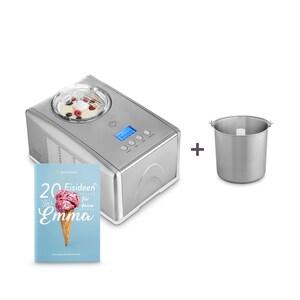 Springlane Eismaschine Emma inkl. Zusatzbehälter Edelstahl silber/weiß 1,5l