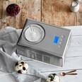 Springlane Kitchen Eismaschine Emma inkl. Zusatzbehälter Edelstahl 1,5l silber/weiß