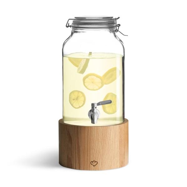Springlane Kitchen Getränkespender Greta mit Zapfhahn und Holzständer 5l