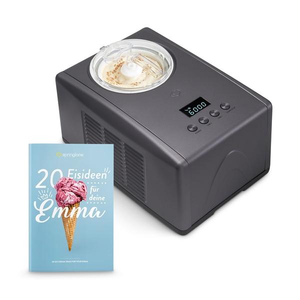 Springlane Kitchen Eismaschine Emma 1,5l anthrazit/schwarz