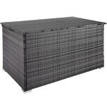 Tectake Auflagenbox mit Aluminiumgestell Stockholm 145x82 5x79 5cm grau