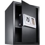 Tectake Elektronischer Safe Tresor mit Schlüssel und Einlegeboden inkl Batterien schwarz