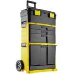 Tectake Werkzeugtrolley Stipe schwarz gelb