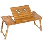 Tectake Laptoptisch aus Holz höhenverstellbar 72x35x26cm braun