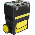 Tectake Werkzeugtrolley Johnny schwarz gelb