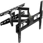 Tectake TV Wandhalterung neigbar schwenkbar für 32 81cm bis 55 140cm VESA max 400x400 bis 60kg schwarz