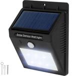 Tectake LED Solar Leuchte mit Bewegungsmelder schwarz